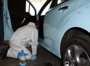 1er test de lavage auto sur un véhicule de Bouygues